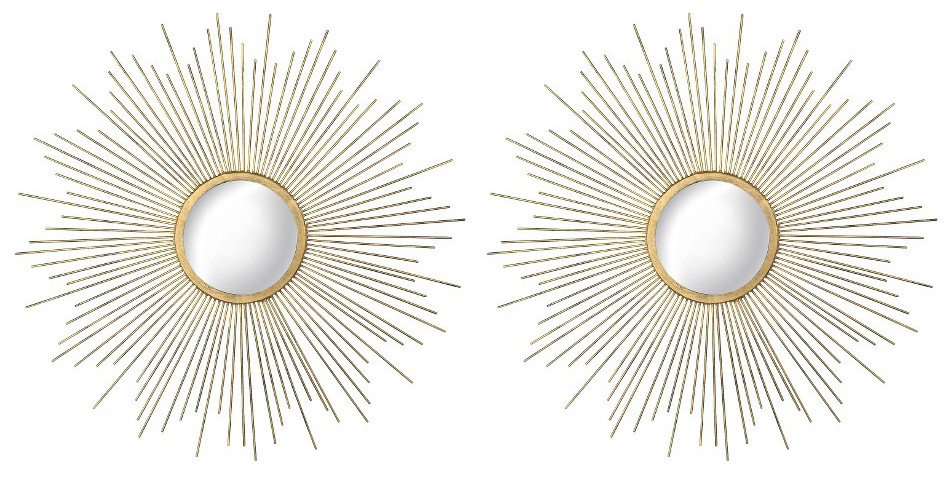 7 interior design finds sunburst mirror